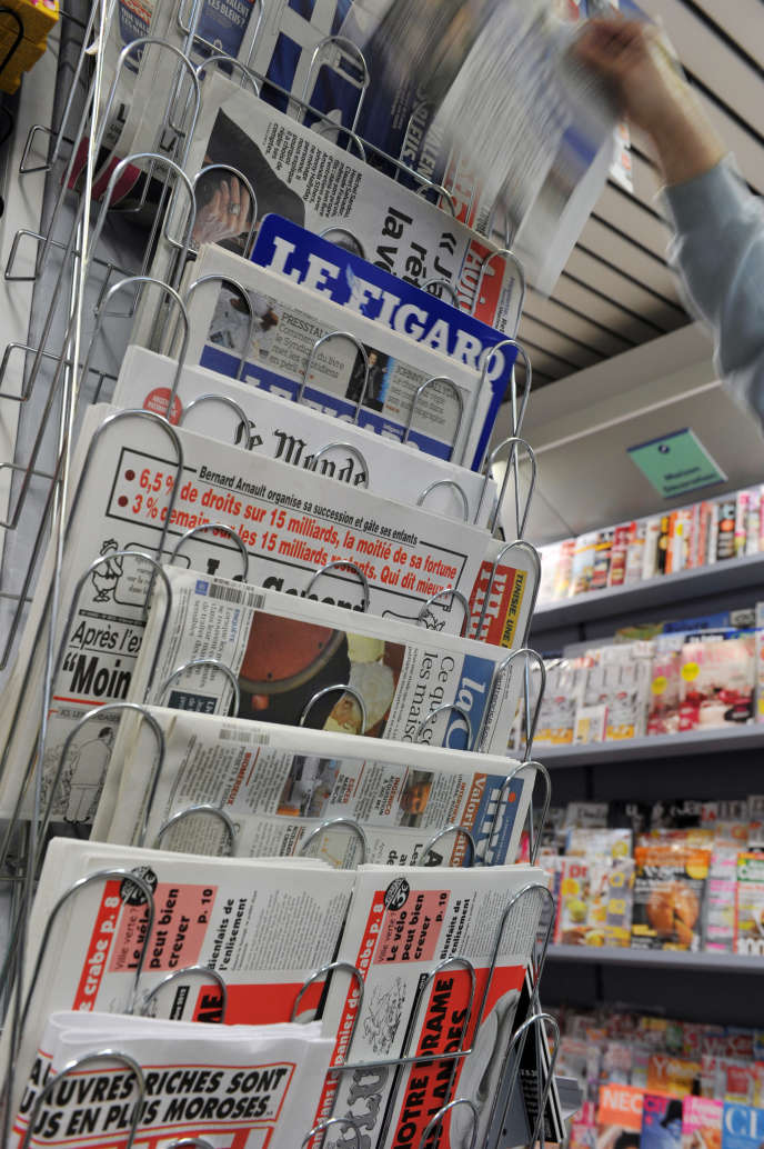 Boutique de journaux.