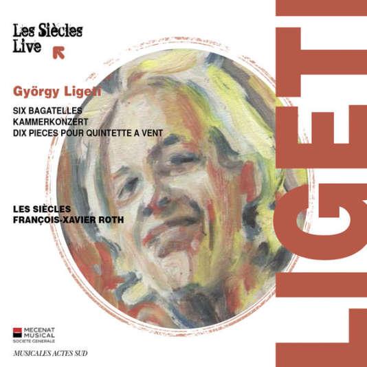 Pochette de l'album Ligeti par l'ensemble Les Siècles.