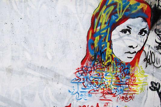 Graffiti de l'artiste iranien, A1one.