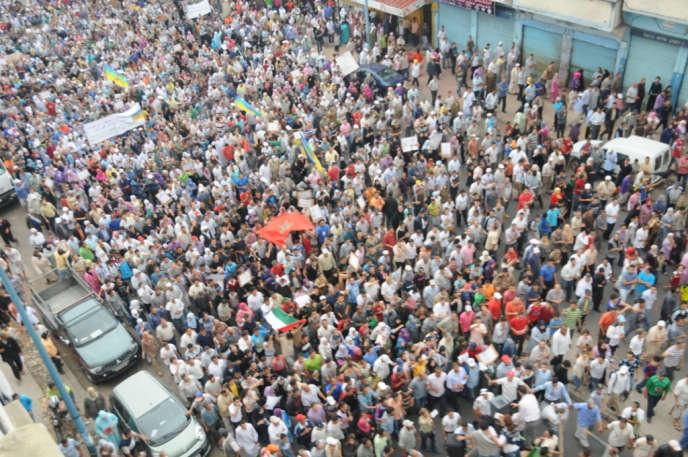 Manifestation au Maroc en mai 2011.