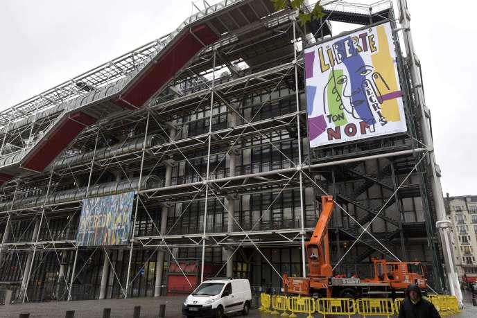 La façade du Centre Georges-Pompidou à Paris, le 20 novembre 2015.