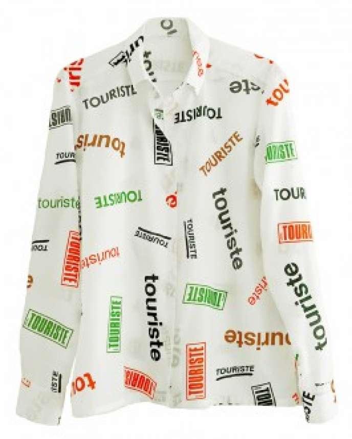 La chemise « touriste»du groupe Untel, à vendre au salon MAD.