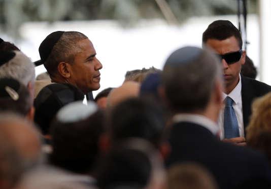 Barack Obama aux funérailles de Shimon Pérès.