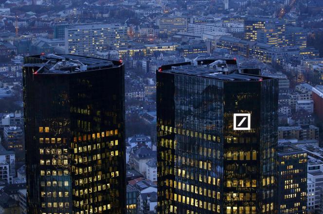 Le siège de la Deutsche Bank à Francfort, en janvier.