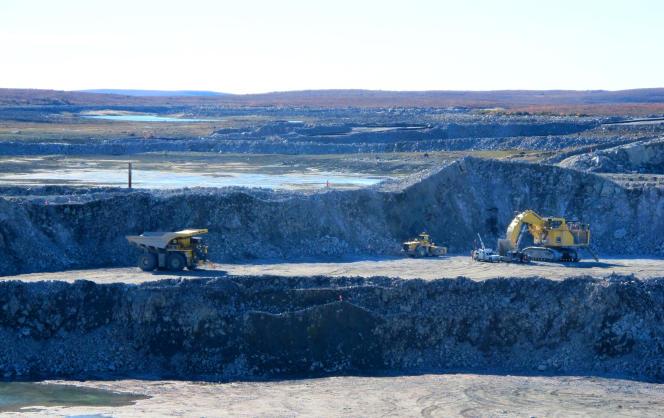 La mine de diamant de Gahcho Kué, dans le nord du Canada, a commencé à être exploitée fin septembre.