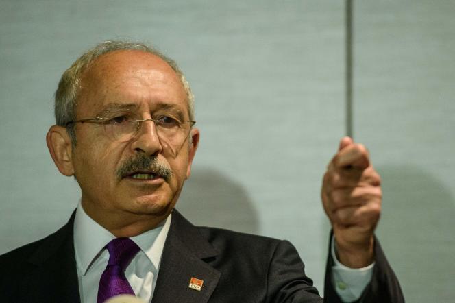 Le chef du Parti républicain du peuple (CHP, opposition), Kemal Kilicdaroglu, le30septembre2016 à Istanbul.