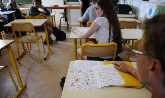 Une école à Metz, le 5 juin 2015.