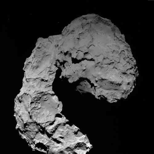 Ce cliché de« Tchouri» a été pris le29septembre par Rosetta, à une distance de22,9kilomètres.