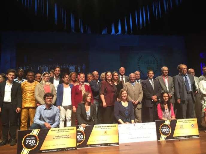 Les lauréats de «Ma thèse en 180secondes», jeudi 29septembre, à Rabat.