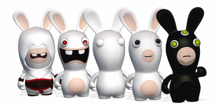 «Les Lapins crétins»déguisés en héros Ubisoft.