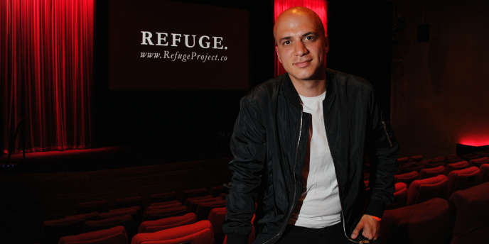 Hassan Akkad, lors de la projection de « Refuge»,à Londres, le 8 juin.