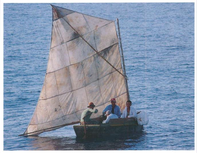 Des migrants cubains, le 23 mars sur le côte de Floride.