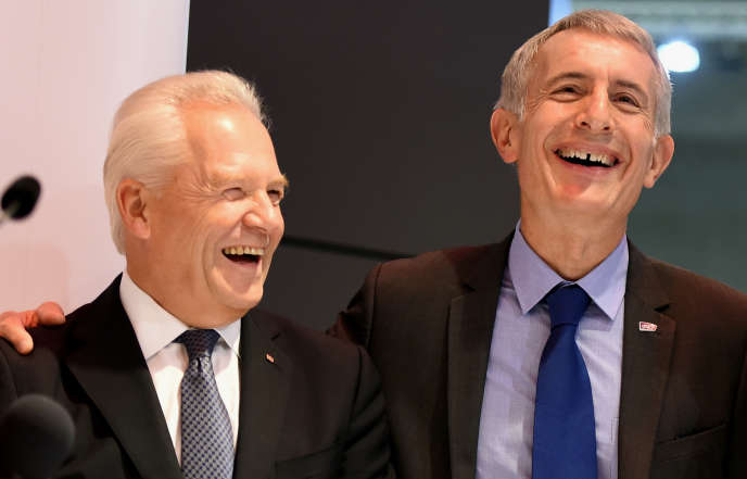 Mardi 20septembre, Guillaume Pepy, le patron de la SNCF, a signé avec Rüdiger Grube, son homologue allemand de la Deutsche Bahn,un protocole d'accord sur l'innovation numérique, prévoyant d'associer les savoir-faire des deux groupes, au salon Innotrans, à Berlin.
