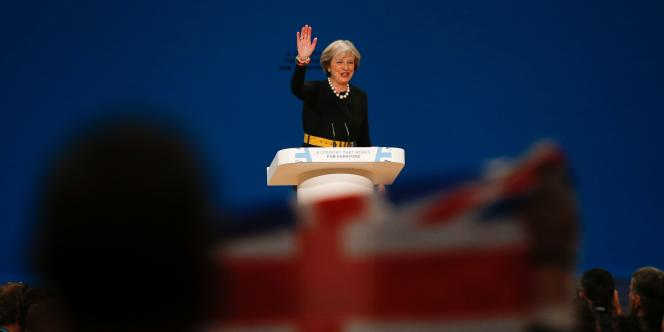 Theresa May, la première ministre britannique, lors du congrès du Parti conservateur, le 2 octobre, à Birmingham.