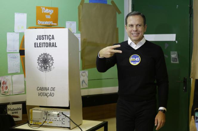 Joao Doria, du Parti de la social-démocratie brésilienne (PSDB), a été élu maire de Sao Paulo, dimanche 2 octobre.