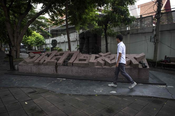Le mémorial du 6 octobre 1976, inauguré à Bangkok en 2000.