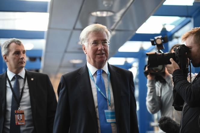 Michael Fallon à Birmingham, le 3 octobre, au second jour de la conférence annuelle du Parti conservateur.