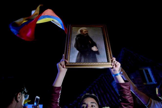 Des partisans du non, le 2 octobre à Bogota.