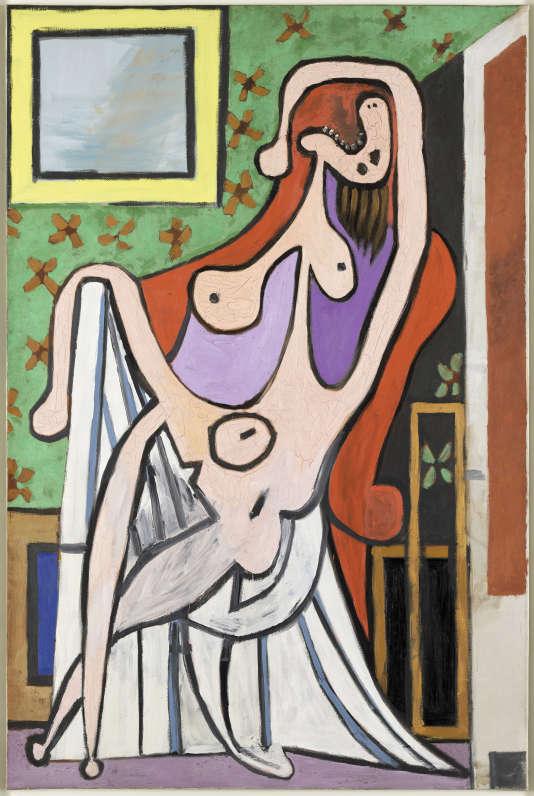 «Grand Nu au fauteuil rouge» (1929), huile sur toile de Picasso.