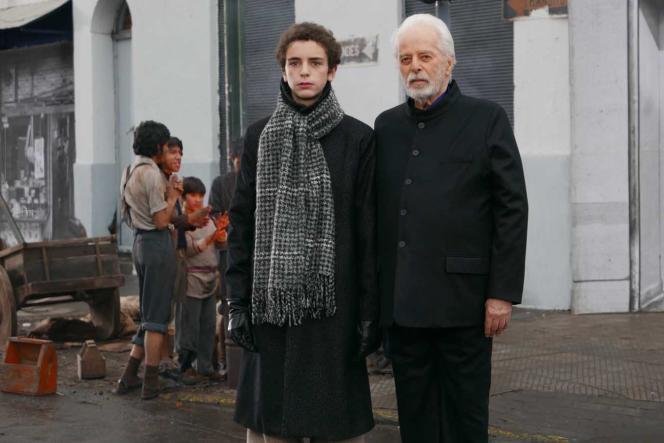 Jeremias Herskovits etAlejandro Jodorowsky dans le film français et chiliend'Alejandro Jodorowsky,«Poesia sin fin».