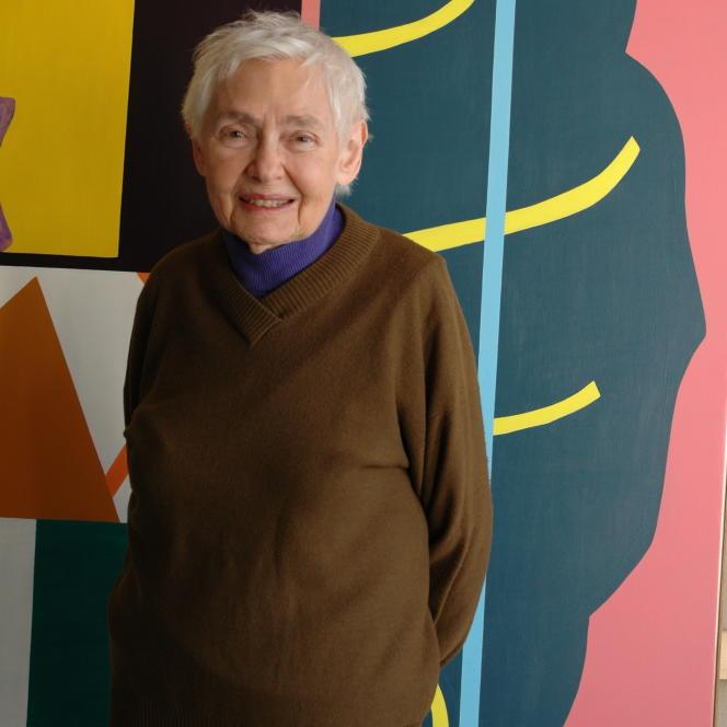 Shirley Jaffe dans son atelier parisien en 2009.