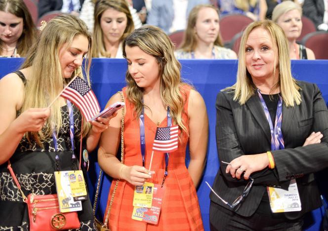 Des supportrices de Donald Trump à Cleveland, lors de la convention du Parti républicain, le 22 juillet 2016.
