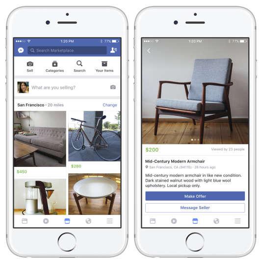 Sur Marketplace, une photo, une description et un prix suffisent pour mettre un objet en vente