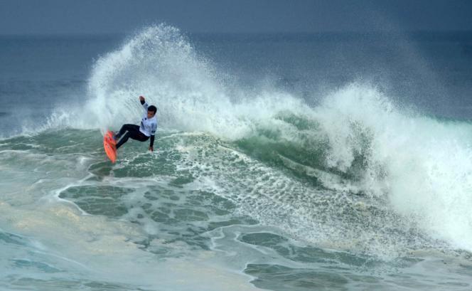 Pour le président de laFédération française de surf,la discipline dispose d'un « fort potentiel de médailles » pour la France (Photo: Keanu Asing, Quiksilver & Roxy Pro France 2016, le 4 octobre 2016, à Hossegor).