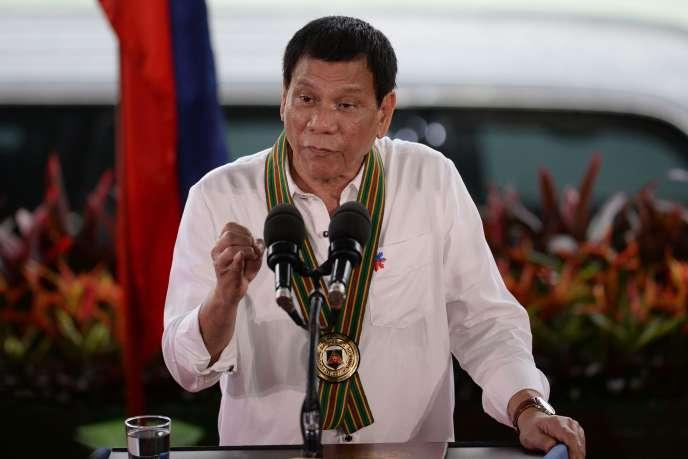 Rodrigo Duterte, le 4 octobre, à Manille.