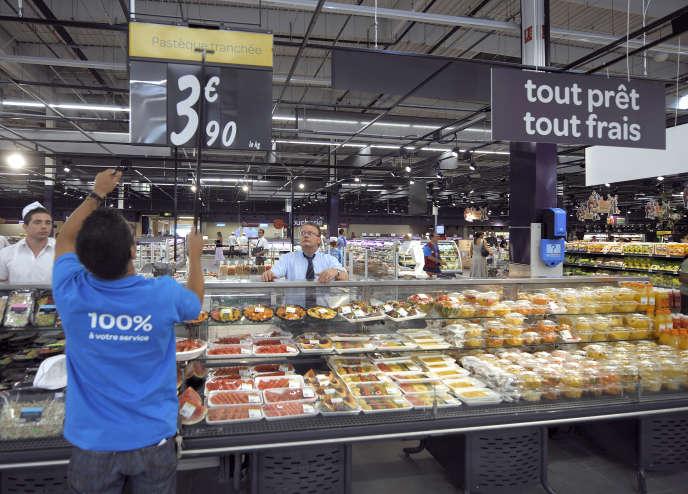 Un supermarché près de Lyon, en 2010.