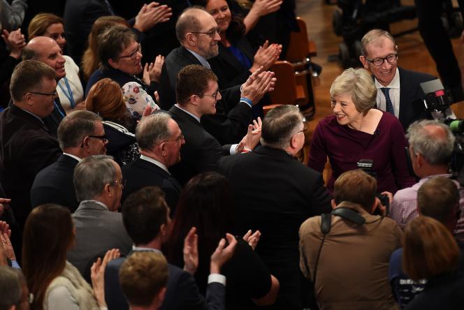 Theresa May, le 5 octobre à Birmingham.
