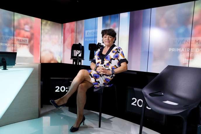 Michèle Rivasi, lors du premier débat de la primaire écologiste, organsié le 27 septembre sur LCP.