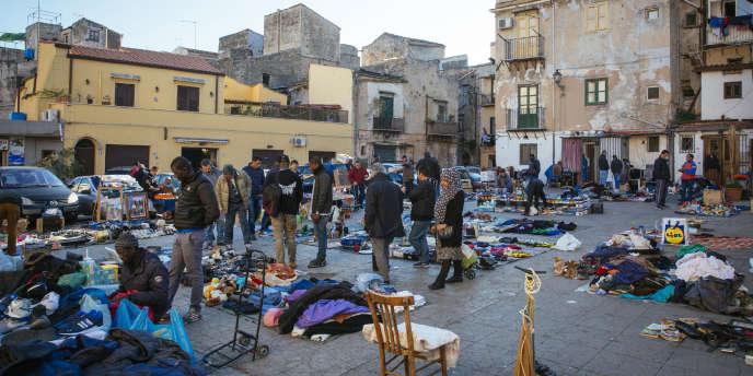 Le marché de Ballaro, quartier du centre-ville de Palerme.