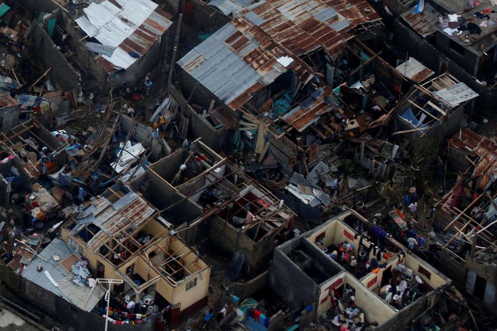 La ville de Jeremie (Haïti), vue du ciel, le 5 octobre.