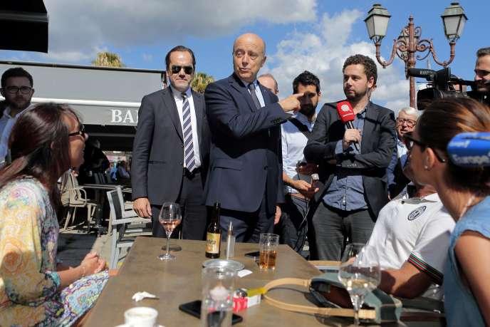 Alain Juppé à Ajaccio, le 5 octobre 2016