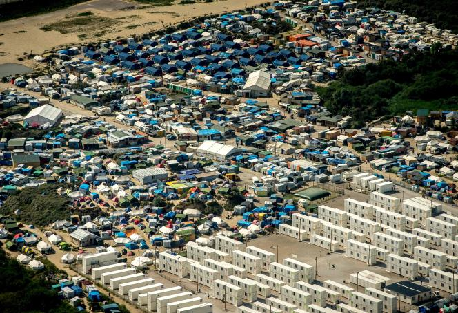 La « jungle » de Calais en août.