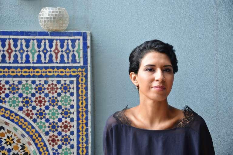 Meryem Cherkaoui, 38 ans, chez elle, à Casablanca.
