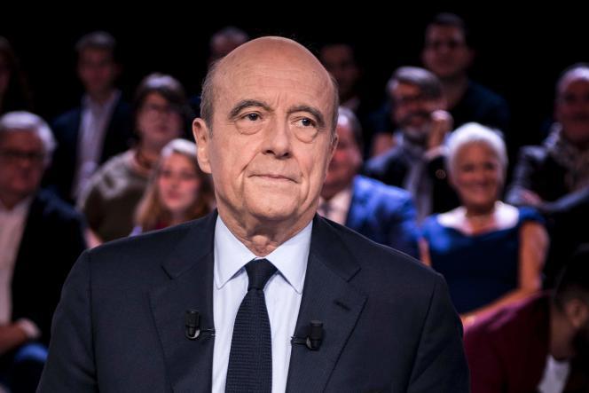 Alain Juppe lors de « L'Emission politique » sur France2 le 6octobre2016.