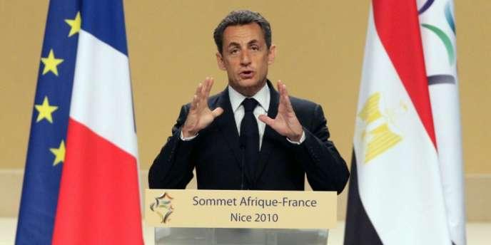 Le président Nicolas Sarkozy, lors du sommet Afrique-France en 2010.
