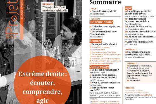 Le numéro d'octobre de la revue« Projet» consacré à l'extrème droite.