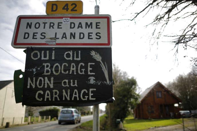 A Notre-Dame-des-Landes, en 2014.
