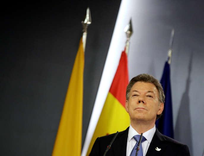 Juan Manuel Santos, le président colombien, le 3 mars 2015.