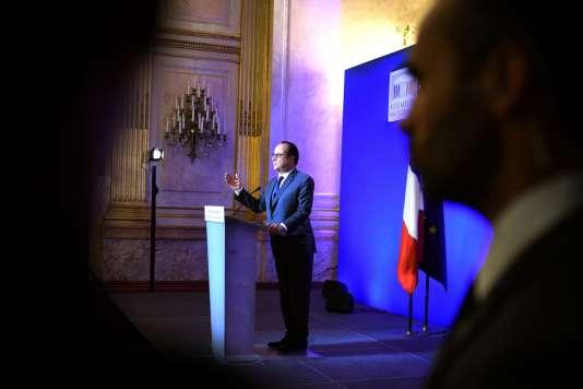 François Hollande, à l'hôtel de Lassay, à Paris, jeudi 6 octobre.