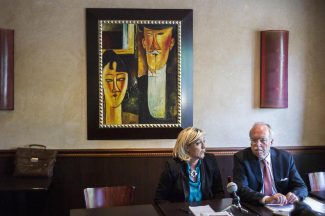 Marine Le Pen et Wallerand de Saint-Just, le 26 juin 2013.