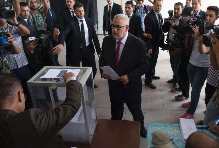 Abdelilah Benkirane, le premier ministre marocain du PJD, à Rabat le 7 octobre.