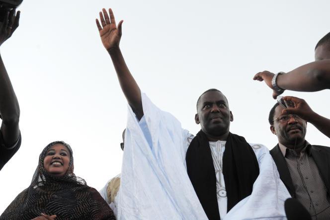 Le militant anti-esclavagiste Biram Dah Abeid, lors d'un meeting à Nouakchott, le 19 juin 2014.