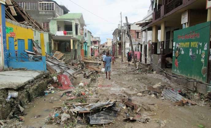 L'ouraganMatthew a surtout frappé le sud et le sud-ouest d'Haïti.