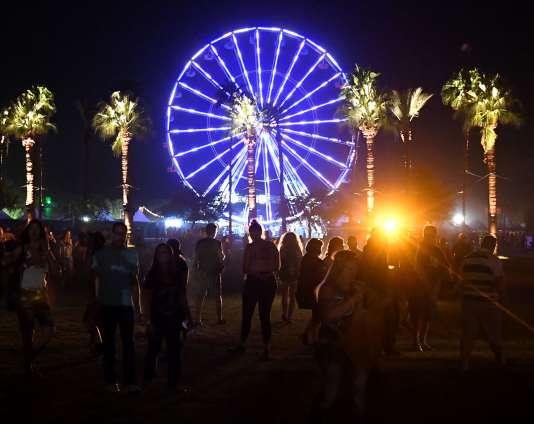 Au Desert Trip music festival en Californie.