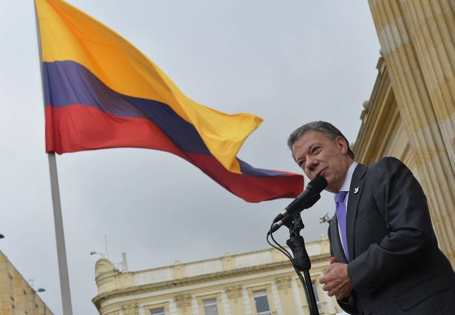 Le président Juan Manuel Santos le 7 octobre à Bogota, en Colombie.