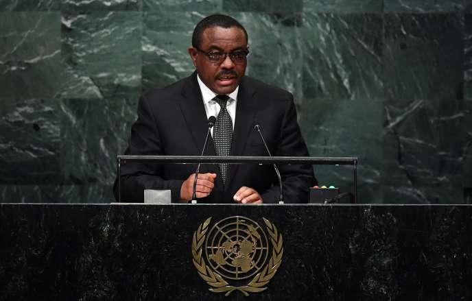 Le premier ministre éthiopien, Hailemariam Dessalegn, le 22 septembre à la tribune des Nations unies à New York.